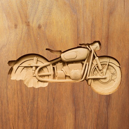 Penguin Book woodcarving