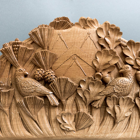 Carpenters Company bespoke woodcarved panel