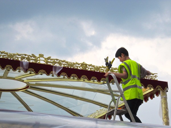 The Queen's Diamond Jubilee Royal Barge canopy by The Woodcarving Studio