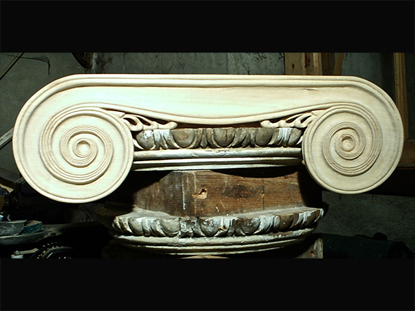 Moggerhanger House - Reproduction of carved Ionic capital