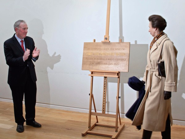Commemorative Plaque HRH The Princess Royal by The Woodcarving Studio
