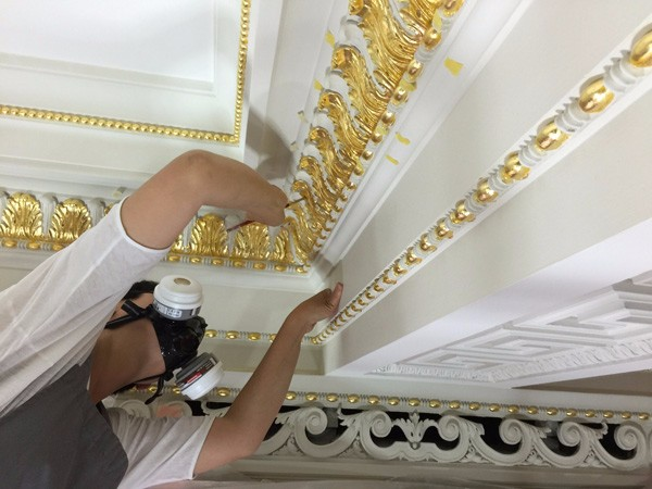Interior gilding by The Woodcarving Studio