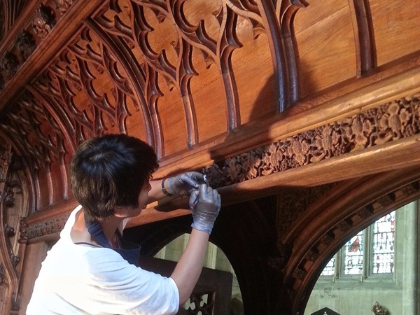 New College Oxford Chapel restoration work by The Woodcarving Studio