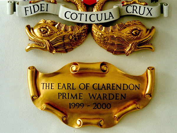 Carved Coat of Arms for the Earl of Clarendon - Traditional water gilding