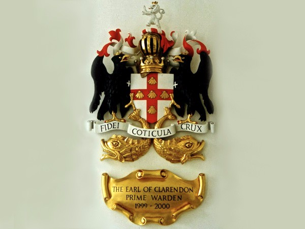 Coat of Arms for Fishmongers's Company, gilding by The Woodcarving Studio
