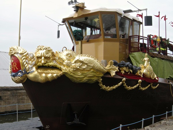 The Queen's Diamond Jubilee Royal Barge, gilding by The Woodcarving Studio