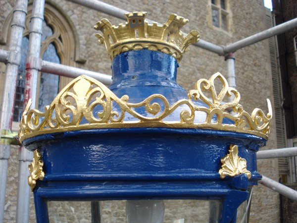 Tower of London gilded lanterns (Beauchamp Tower) by The Woodcarving Studio