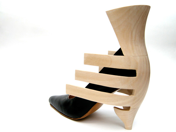 Carved Scluptural Heel by The Woodcarving Studio