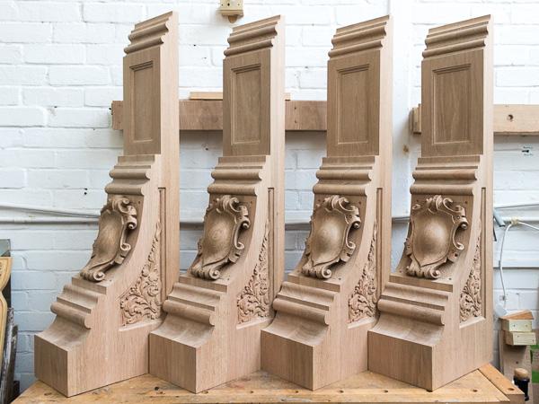 Architectural corbels - Hand-carved oak corbels