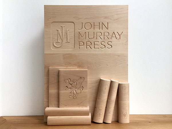 Bespoke carved wall panel for John Murray Press