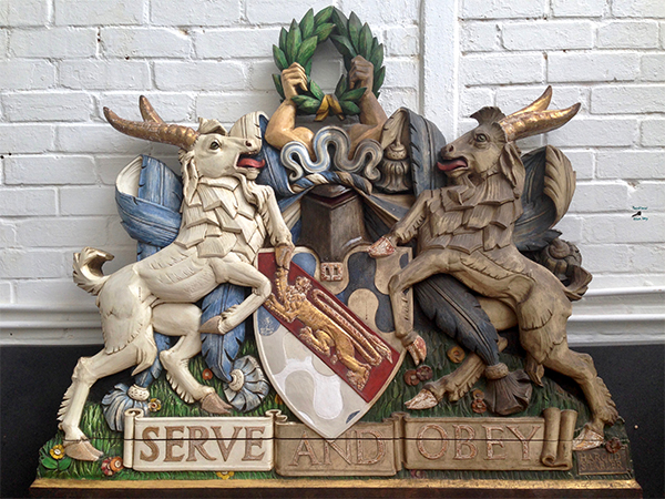 Haberdashers' Aske's Boys' School - Coat of Arms During Restoration