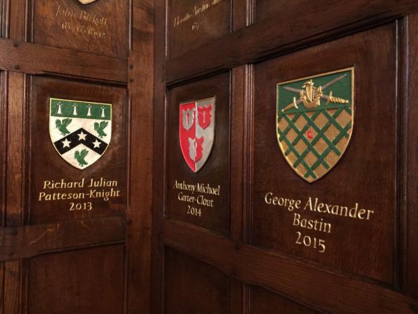 Ironmongers' Hall, London - Master's Coats of Arms