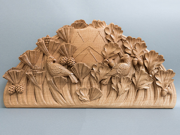 Bespoke wood carving commission for Carpenters' Hall, UK