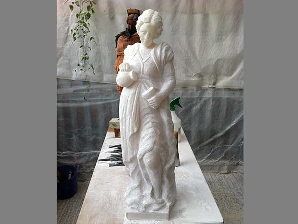 Church memorial restoration - replacement of carved alabaster figures