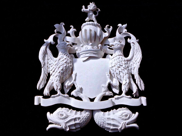 Commissioned for Finshmongers' Hall, London - Carved and gessoed