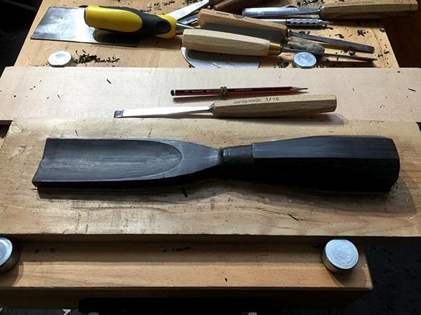 Ebony - Wood carver's gouge