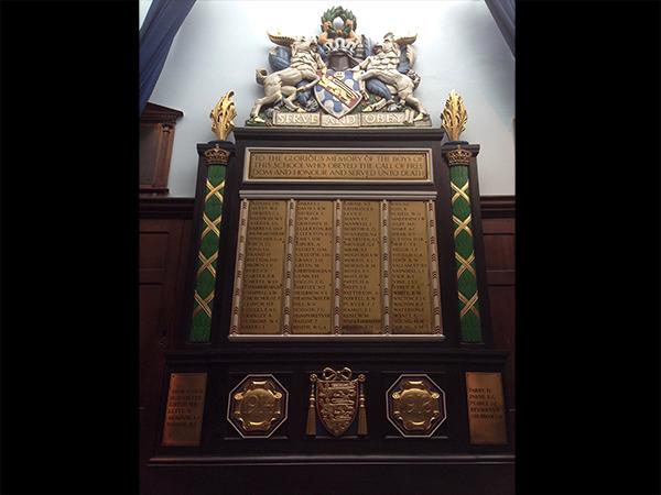 Haberdashers' Aske's Boys' School - Restoration on First World War Memorial