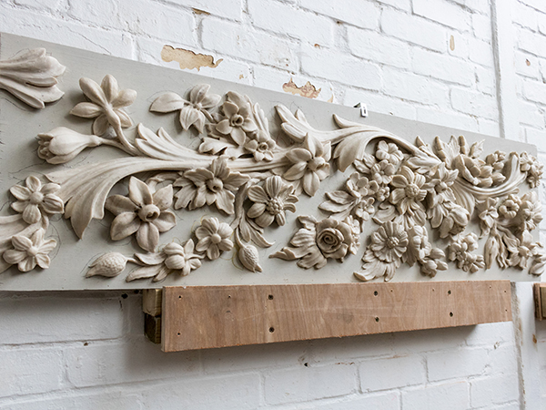 Wax model for decorative frieze panel