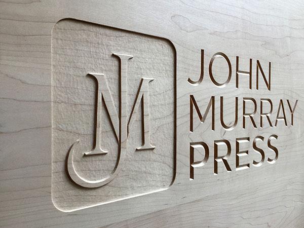 Bespoke letter carving for John Murray Press