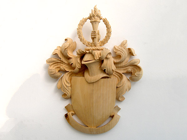 City University Carved Coat of Arms