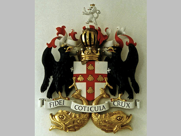 Commissioned for Finshmongers' Hall, London - Polychromed and gilded