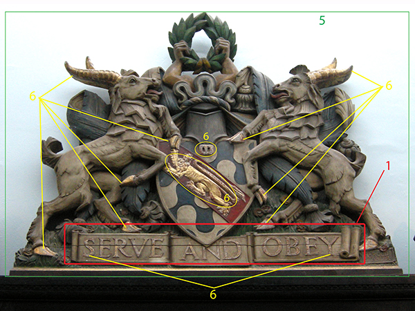Haberdashers' Aske's Boys' School - Coat of Arms Restoration (Before)