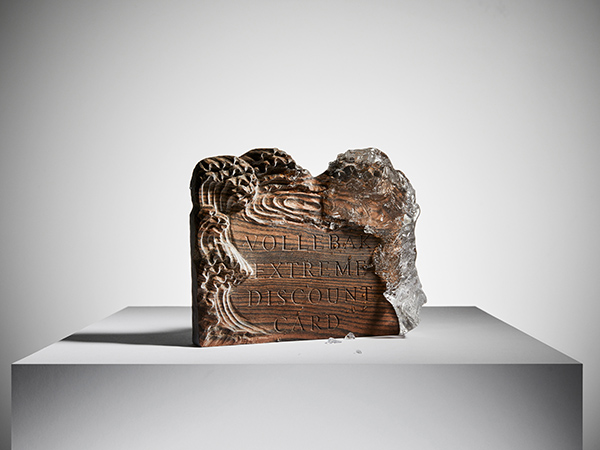 Bespoke wood carving for Vollebak advertising campaign