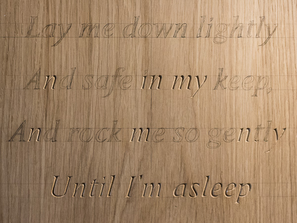Carved poem - Traditional hand-carved lettering & design