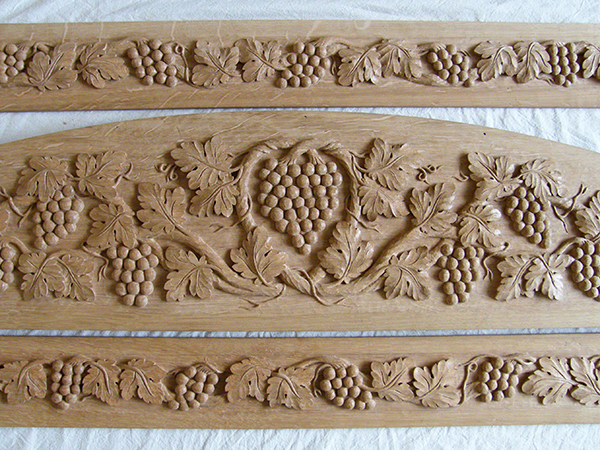 Grapevine ornament wood carving