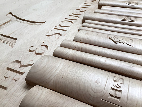 Hodder and Stoughton UK - Hand-carved company logos