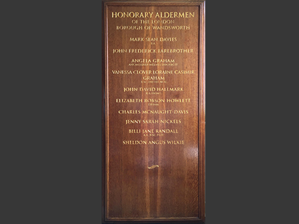 Wandsworth Council - Bespoke honour board