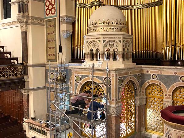 West London Synagogue - Professional gilding service