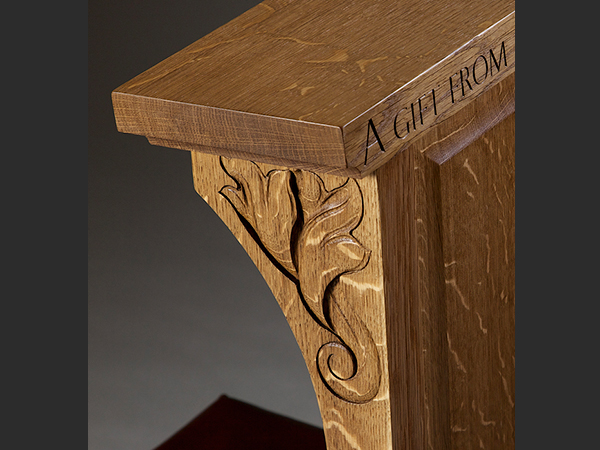 Bespoke Furniture - Letter carving detail