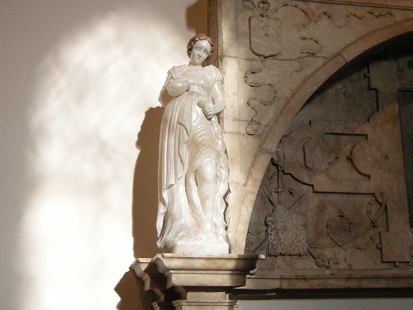 Carved alabaster allegorical figures - Faith