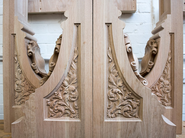 Architectural corbels - Traditional wood carving service for reproduction of architectural features