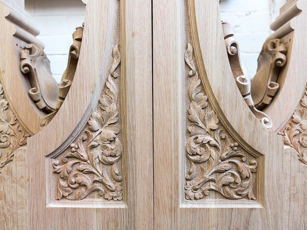 Architectural reproduction carving - Foliage relief