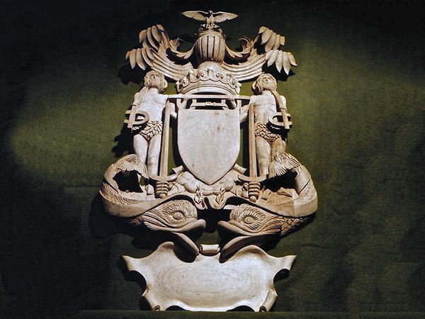 Commissioned for Fishmongers' Hall, London - Carved Coat of Arms in lime wood