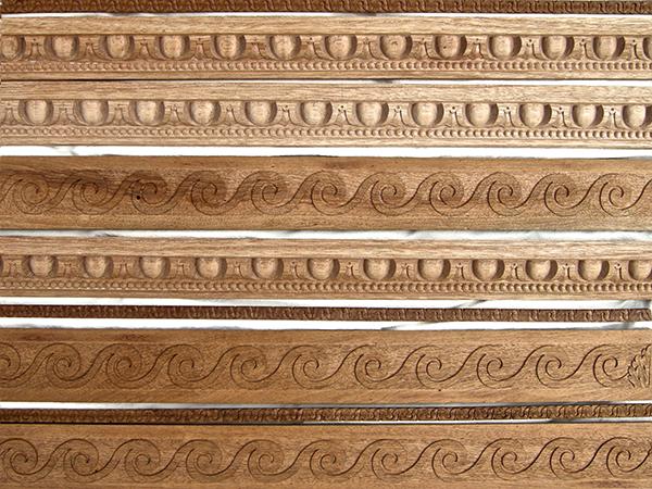 Custom Carved wooden mouldings