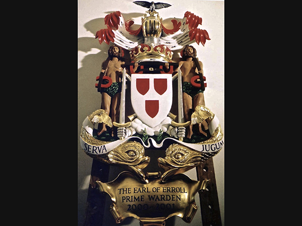 Lord Erroll's Coat of Arms - Commissioned for Fishmongers' Hall, London